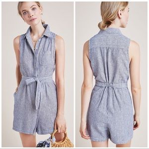 Anthropologie Collared Romper Size 2